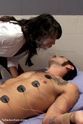 Photo number 4 from Experimental Clinic shot for TS Seduction on Kink.com. Featuring Yasmin Lee and Reuven in hardcore BDSM & Fetish porn.