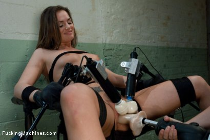 Photo number 13 from Back in Black <br> part 3 of 5 of the Live Show shot for Fucking Machines on Kink.com. Featuring Tori Black in hardcore BDSM & Fetish porn.