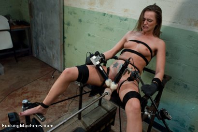 Photo number 1 from Back in Black <br> part 3 of 5 of the Live Show shot for Fucking Machines on Kink.com. Featuring Tori Black in hardcore BDSM & Fetish porn.