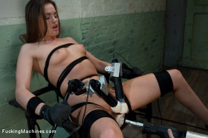 Photo number 10 from Back in Black <br> part 3 of 5 of the Live Show shot for Fucking Machines on Kink.com. Featuring Tori Black in hardcore BDSM & Fetish porn.
