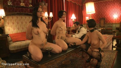 Photo number 3 from Topless Tapas Training Session shot for The Upper Floor on Kink.com. Featuring Cherry Torn, Sarah Shevon and Maggie Mayhem in hardcore BDSM & Fetish porn.