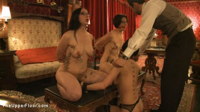 Photo number 4 from Topless Tapas Training Session shot for The Upper Floor on Kink.com. Featuring Cherry Torn, Sarah Shevon and Maggie Mayhem in hardcore BDSM & Fetish porn.