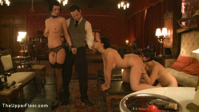 Photo number 9 from Topless Tapas Training Session shot for The Upper Floor on Kink.com. Featuring Cherry Torn, Sarah Shevon and Maggie Mayhem in hardcore BDSM & Fetish porn.