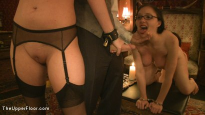 Photo number 10 from Topless Tapas Training Session shot for The Upper Floor on Kink.com. Featuring Cherry Torn, Sarah Shevon and Maggie Mayhem in hardcore BDSM & Fetish porn.