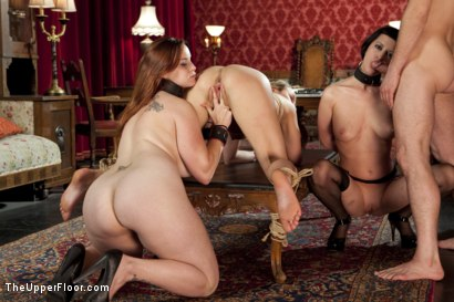 Photo number 8 from Topless Tapas Training Part 2 shot for The Upper Floor on Kink.com. Featuring Cherry Torn, Bella Rossi and Jessie Cox in hardcore BDSM & Fetish porn.