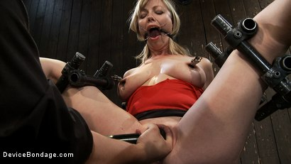 Photo number 9 from Drool + Big Natural Tits = Something Very Special Indeed shot for Device Bondage on Kink.com. Featuring Adrianna Nicole in hardcore BDSM & Fetish porn.