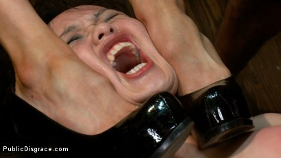 Photo number 7 from Newbie - Asian Amateur Ass Fucked and Humiliated shot for Public Disgrace on Kink.com. Featuring James Deen and Madeleine Mei in hardcore BDSM & Fetish porn.