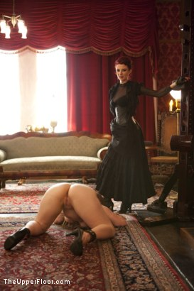Photo number 2 from Tea with Mistress Liliane Hunt shot for The Upper Floor on Kink.com. Featuring Cherry Torn, Bella Rossi and Liliane Hunt in hardcore BDSM & Fetish porn.