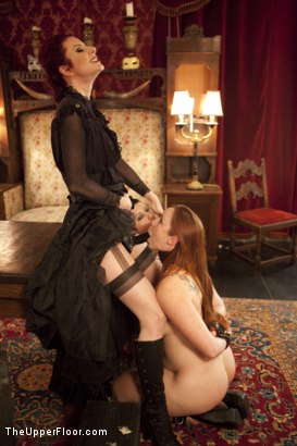Photo number 8 from Tea with Mistress Liliane Hunt shot for The Upper Floor on Kink.com. Featuring Cherry Torn, Bella Rossi and Liliane Hunt in hardcore BDSM & Fetish porn.