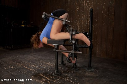 Photo number 1 from Nubile unit gets fucked harder then she has ever been fucked before!!!  shot for Device Bondage on Kink.com. Featuring Allie Haze in hardcore BDSM & Fetish porn.