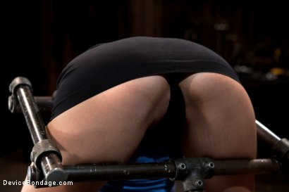 Photo number 3 from Nubile unit gets fucked harder then she has ever been fucked before!!!  shot for Device Bondage on Kink.com. Featuring Allie Haze in hardcore BDSM & Fetish porn.