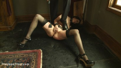 Photo number 12 from Service Session: Mopping up the Floor with Torn shot for The Upper Floor on Kink.com. Featuring Cherry Torn in hardcore BDSM & Fetish porn.