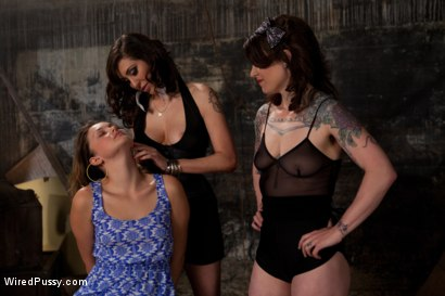 Photo number 2 from Double Teamed and Scared Shitless shot for Wired Pussy on Kink.com. Featuring Allie Haze, Princess Donna Dolore and Vivienne Del Rio in hardcore BDSM & Fetish porn.