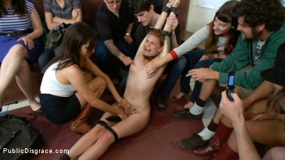 Photo number 3 from Marked Whore - Payton Bell gets Fucked and Tattooed by Total Strangers shot for Public Disgrace on Kink.com. Featuring Payton Bell and Tommy Pistol in hardcore BDSM & Fetish porn.