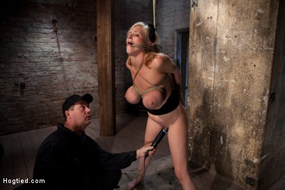 Photo number 12 from Katie Kox and her Monster tits are introduced to Hogtied<br> the meet and greet. shot for Hogtied on Kink.com. Featuring Katie Kox in hardcore BDSM & Fetish porn.