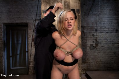 Photo number 5 from Katie Kox and her Monster tits are introduced to Hogtied<br> the meet and greet. shot for Hogtied on Kink.com. Featuring Katie Kox in hardcore BDSM & Fetish porn.