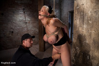 Photo number 9 from Katie Kox and her Monster tits are introduced to Hogtied<br> the meet and greet. shot for Hogtied on Kink.com. Featuring Katie Kox in hardcore BDSM & Fetish porn.