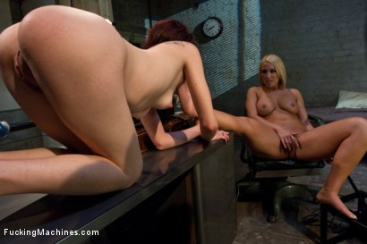 Photo number 7 from MALL COPS GET THEIR GIRL <br> part 2 shot for Fucking Machines on Kink.com. Featuring Mellanie Monroe and Jessi Palmer in hardcore BDSM & Fetish porn.