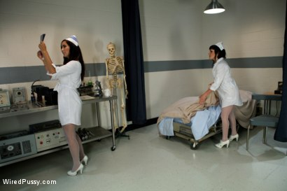 Photo number 1 from Head Nurse shot for Wired Pussy on Kink.com. Featuring Isis Love and Stacey Stax in hardcore BDSM & Fetish porn.