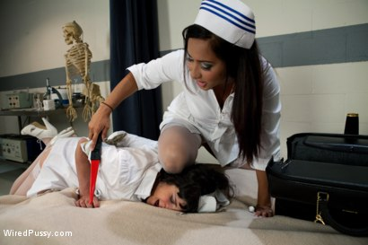 Photo number 3 from Head Nurse shot for Wired Pussy on Kink.com. Featuring Isis Love and Stacey Stax in hardcore BDSM & Fetish porn.