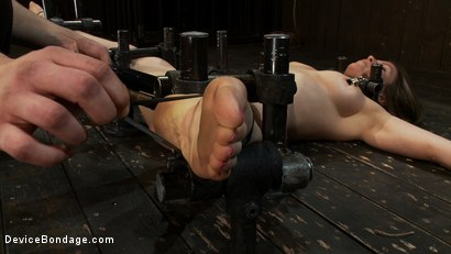 Photo number 13 from Hot Yogi metal-bound in a split, meditates on pleasure and pain. shot for Device Bondage on Kink.com. Featuring Lindsey Grant in hardcore BDSM & Fetish porn.