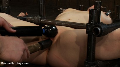 Photo number 7 from Hot Yogi metal-bound in a split, meditates on pleasure and pain. shot for Device Bondage on Kink.com. Featuring Lindsey Grant in hardcore BDSM & Fetish porn.
