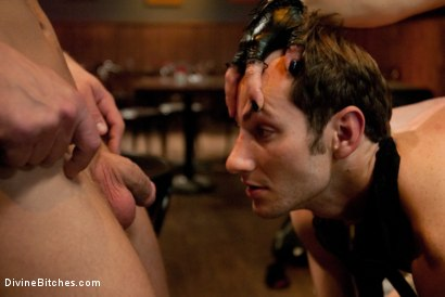 Photo number 5 from Humiliated Cuck Covered In Cum shot for Divine Bitches on Kink.com. Featuring Nomad, Dia Zerva and Trent Diesel in hardcore BDSM & Fetish porn.