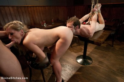 Photo number 14 from Humiliated Cuck Covered In Cum shot for Divine Bitches on Kink.com. Featuring Nomad, Dia Zerva and Trent Diesel in hardcore BDSM & Fetish porn.