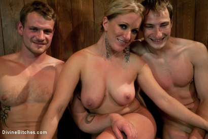 Photo number 8 from Humiliated Cuck Covered In Cum shot for Divine Bitches on Kink.com. Featuring Nomad, Dia Zerva and Trent Diesel in hardcore BDSM & Fetish porn.
