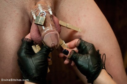 Photo number 1 from Humiliated Cuck Covered In Cum shot for Divine Bitches on Kink.com. Featuring Nomad, Dia Zerva and Trent Diesel in hardcore BDSM & Fetish porn.