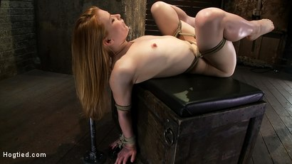 Photo number 1 from Huge Nipples Tied and Stretched. <br>Double penetrated to Orgasm! shot for Hogtied on Kink.com. Featuring Madison Young in hardcore BDSM & Fetish porn.