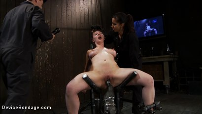 Photo number 12 from Part 2 of 4 of the<br> May Live show. shot for Device Bondage on Kink.com. Featuring Isis Love, Charlotte Vale and Maggie Mayhem in hardcore BDSM & Fetish porn.