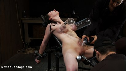 Photo number 5 from Part 2 of 4 of the<br> May Live show. shot for Device Bondage on Kink.com. Featuring Isis Love, Charlotte Vale and Maggie Mayhem in hardcore BDSM & Fetish porn.