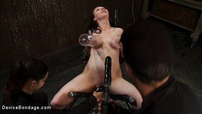 Photo number 8 from Part 2 of 4 of the<br> May Live show. shot for Device Bondage on Kink.com. Featuring Isis Love, Charlotte Vale and Maggie Mayhem in hardcore BDSM & Fetish porn.