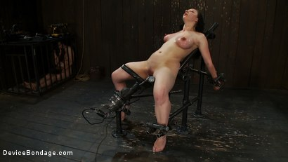 Photo number 10 from Part 2 of 4 of the<br> May Live show. shot for Device Bondage on Kink.com. Featuring Isis Love, Charlotte Vale and Maggie Mayhem in hardcore BDSM & Fetish porn.