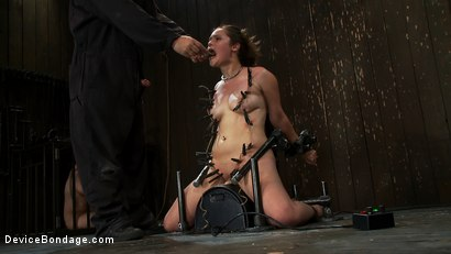 Photo number 6 from Part 3 of 4 of the<br> May live show. shot for Device Bondage on Kink.com. Featuring Isis Love, Charlotte Vale and Maggie Mayhem in hardcore BDSM & Fetish porn.