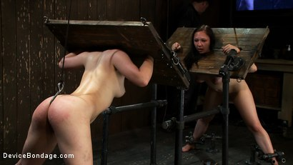 Photo number 9 from Part 4 of 4 of the May live show. shot for Device Bondage on Kink.com. Featuring Isis Love, Charlotte Vale and Maggie Mayhem in hardcore BDSM & Fetish porn.