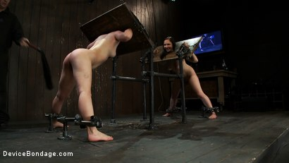 Photo number 13 from Part 4 of 4 of the May live show. shot for Device Bondage on Kink.com. Featuring Isis Love, Charlotte Vale and Maggie Mayhem in hardcore BDSM & Fetish porn.