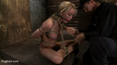 Photo number 5 from Madison Scott is Bound in a Traditional Japanese Torment Position<br>Make to Cum and Squirt. shot for Hogtied on Kink.com. Featuring Madison Scott in hardcore BDSM & Fetish porn.