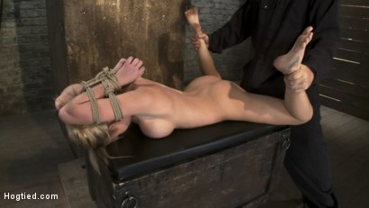 Photo number 1 from Category 5<br>Modified Hogtied Suspension  shot for Hogtied on Kink.com. Featuring Madison Scott in hardcore BDSM & Fetish porn.