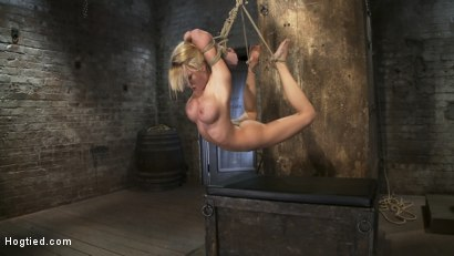 Photo number 12 from Category 5<br>Modified Hogtied Suspension  shot for Hogtied on Kink.com. Featuring Madison Scott in hardcore BDSM & Fetish porn.