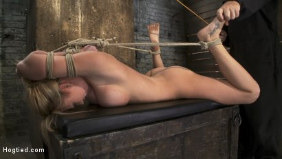 Photo number 5 from Category 5  Modified Hogtied Suspension shot for Hogtied on Kink.com. Featuring Madison Scott in hardcore BDSM & Fetish porn.