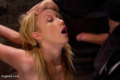 Photo number 3 from Big Boobs<br>Hard Throat Fucking<br>A Holiday Bonus Update! shot for Hogtied on Kink.com. Featuring Madison Scott in hardcore BDSM & Fetish porn.