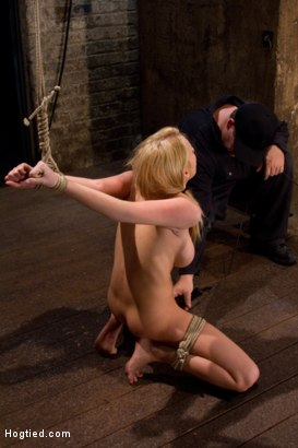 Photo number 10 from Big Boobs<br>Hard Throat Fucking<br>A Holiday Bonus Update! shot for Hogtied on Kink.com. Featuring Madison Scott in hardcore BDSM & Fetish porn.
