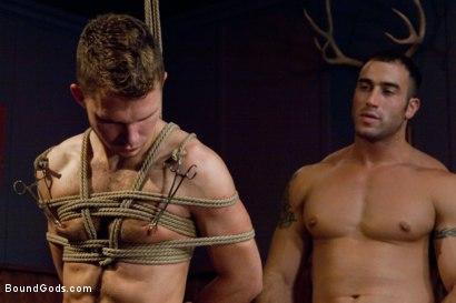 Photo number 11 from Bar Bondage Hookup shot for Bound Gods on Kink.com. Featuring Spencer Reed and Zach Alexander in hardcore BDSM & Fetish porn.