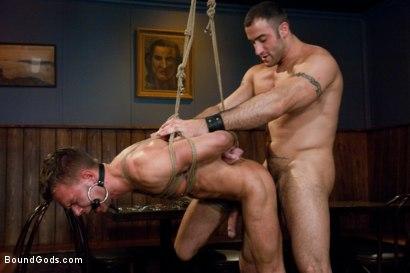 Photo number 13 from Bar Bondage Hookup shot for Bound Gods on Kink.com. Featuring Spencer Reed and Zach Alexander in hardcore BDSM & Fetish porn.