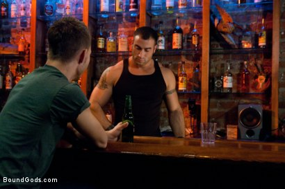 Photo number 1 from Bar Bondage Hookup shot for Bound Gods on Kink.com. Featuring Spencer Reed and Zach Alexander in hardcore BDSM & Fetish porn.