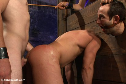 Photo number 13 from rock vs miller - Live Shoot shot for Bound Gods on Kink.com. Featuring Christian Wilde, Jason Miller, Chad Rock and Van Darkholme in hardcore BDSM & Fetish porn.