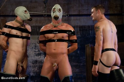 Photo number 1 from rock vs miller - Live Shoot shot for Bound Gods on Kink.com. Featuring Christian Wilde, Jason Miller, Chad Rock and Van Darkholme in hardcore BDSM & Fetish porn.