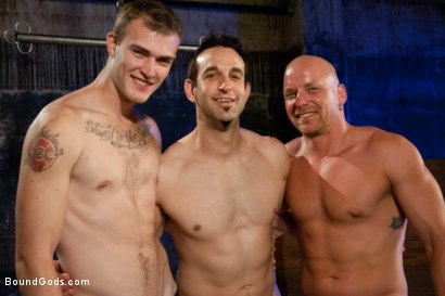 Photo number 15 from rock vs miller - Live Shoot shot for Bound Gods on Kink.com. Featuring Christian Wilde, Jason Miller, Chad Rock and Van Darkholme in hardcore BDSM & Fetish porn.